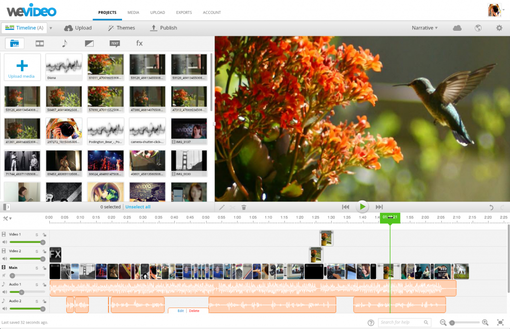 Editing Video in WeVideo